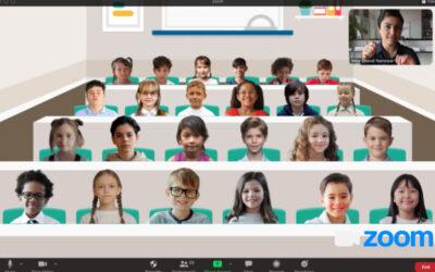 La solución perfecta de Zoom para los profesores: El fondo de una clase