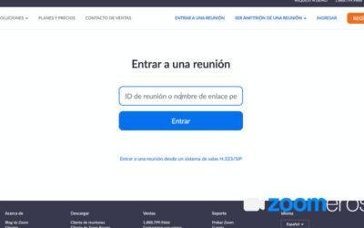 Cómo acceder sin programas a Zoom, solo online